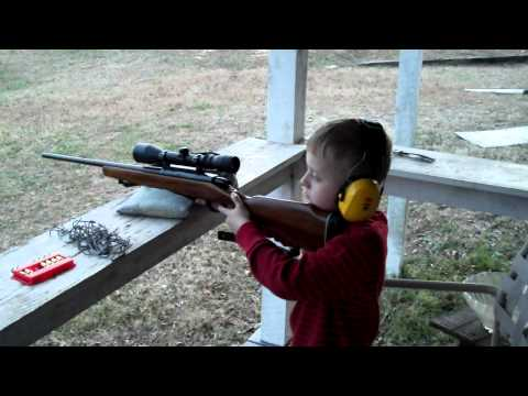 8 yr old son's first time shooting a .308