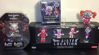 Five Nights at Freddy's Sister Location Figures Mystery Minis Mangle Collector Card Tin Opening