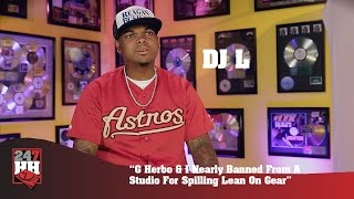 DJ L - G Herbo & I Nearly Banned From A Studio For Spilling Lean On Gear (247HH Exclusive)