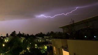Free Footage: Short Lapse Lightning - HD Footage Clip - Gewitter - Free Video