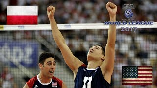ALL BREAKS REMOVED - USA v Poland - FIVB World League 2017 Pool Play