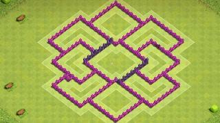 clash of clãns layout cv 8 farm atualizado 4 morteiros