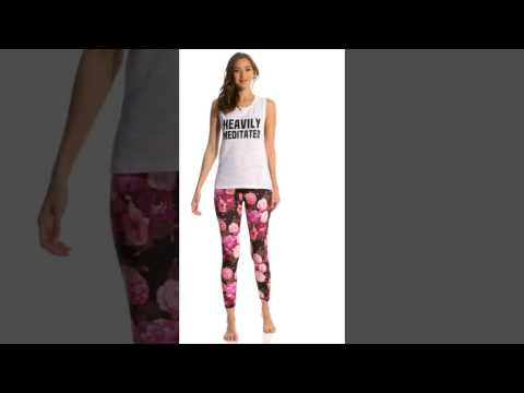 Betsey Johnson Dramatic Floral Printed Yoga Leggings | SwimOutlet.com