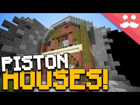 Incredible Minecraft Piston Houses