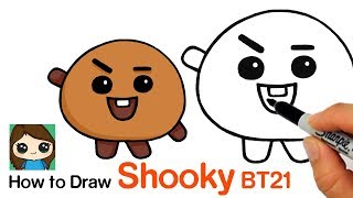 How to Draw BT21 Shooky | BTS Suga Persona