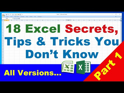 18 Excel Tips and Tricks Excel Secrets you don t know