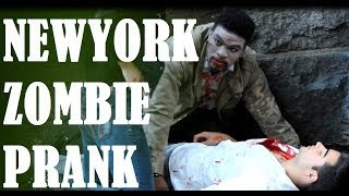 New York  Zombie Prank