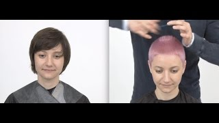 Short Pixie Pink Haircut