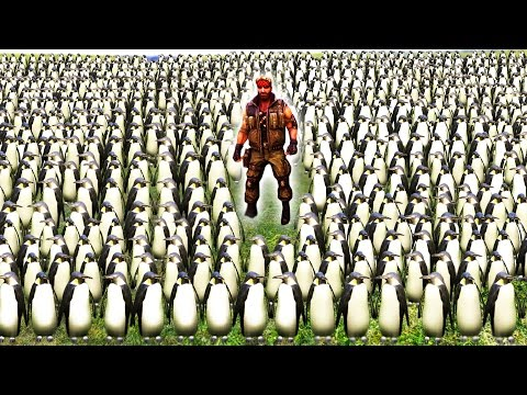 100 000 PENGUINS vs CHUCK NORRIS Ultimate Epic Battle Simulator UEBS