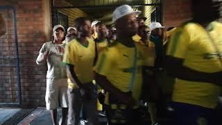 MAMELODI SUNDOWNS SUPPORTERS Leaving Loftus Versfeld Stadium