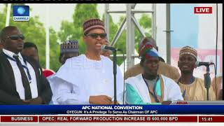 Faceoff: President Buhari Watches As Comedian MC Tagwaye Mimics Him