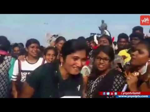 Girls Made Funny Slogans For Jallikattu Protest In Chennai Marina To Allow Jallikattu | YOYOTV Tamil