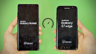 Samsung Galaxy Note 8 vs S7 Edge - Speed Test! (4K)