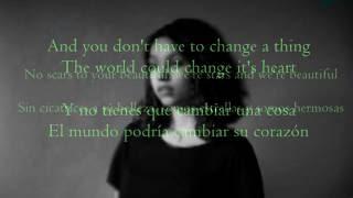 Scars To Your Beautiful - Allessia Cara|| Lyrics (Ingles& Sub.Español)