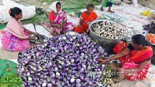 Amazing Cooking Baingan Masala Recipe (Brinjal Curry) Prepared 1500 People Hindu Function