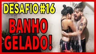 TOMANDO BANHO COM ÁGUA GELADA NO FRIO! DESAFIO #16
