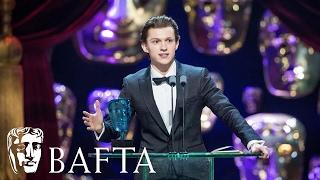 Tom Holland wins EE Rising Star award | BAFTA Film Awards 2017
