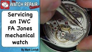 Servicing an IWC FA Jones watch. Watch repair tutorials.