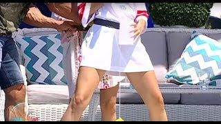 Provocare pentru Lidia Buble și Amna! Cele două artiste trebuie să bage o minge de tenis într-un ...