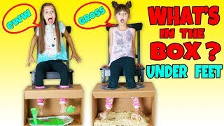 WHAT'S IN THE BOX CHALLENGE - UNDER FEET!