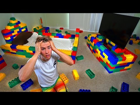 Replacing my brothers entire room with legos prank
