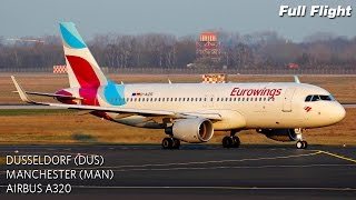 Eurowings Full Flight | Dusseldorf to Manchester | Airbus A320 (with ATC)