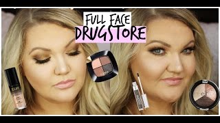 Full Face Using ONLY DRUGSTORE Makeup | Affordable Makeup Look