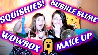 FUN GIRLS DAY IN: MAKE UP,  SQUISHIES, SLIME & WOWBOX ! | Sedona Fun Kids TV