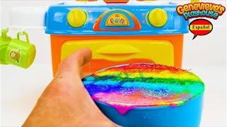 ¡Aprenda Formas, Colores y Números para Niños con un Pastel de Cumpleaños de Juguete!