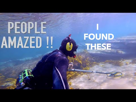 Found GOLD Treasure NO POLICE Assistance Underwater Metal Detecting 6 RINGS Owners Happy