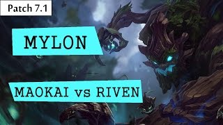 Mylon (dogla la dogla) - Maokai vs Riven - Top | Lol Br Pro Replays