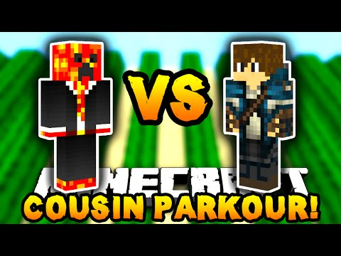 Minecraft PARKOUR CHALLENGE with MY COUSIN! - w/PrestonPlayz & Landon