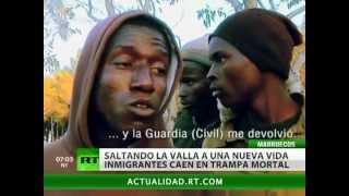 """Inmigrantes africanos, en """"peligro mortal"""" en la frontera entre Marruecos y España"""