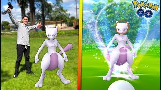 I CAUGHT MY FIRST EVER *REAL MEWTWO* IN POKÉMON GO!
