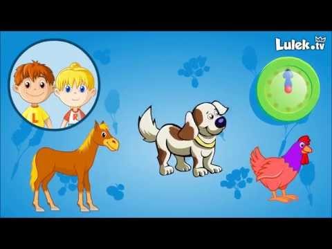 Pomyśl i kliknij Odgłosy zwierząt Zwierzęta domowe Gra dla dzieci cz.1