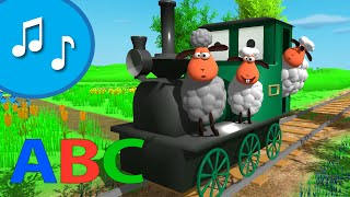ABC song with a train for children | Nursery rhyme from tinyschool