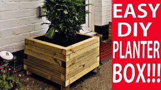 How to Make a Wooden Planter Box - The Easy Way to Build a Planter DIY
