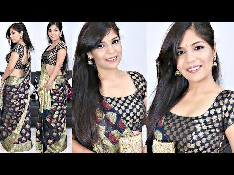 How To Do Indian Makeup -Tutorial | How To Style Saree | SuperPrincessjo