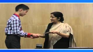 All India KVS Essay Competition  Prize Distribution By EAM  (December 11, 2015)