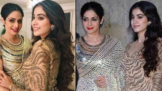 बेटियों के साथ श्रीदेवी ने ढाया कहर | Sridevi Stands Out At Birthday Party With Hot Daughters
