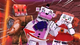 Funtime Freddy and Circus Baby's Nether Nightmare- Minecraft FNAF Roleplay