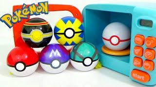 Learn Colors with POKEMON GO Play-Doh SLIME and MAGIC MICROWAVE Surprise Cooking Playset