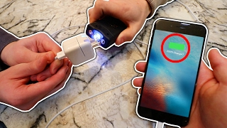 EXPERIMENT TASER VS IPHONE CHARGER! (WILL IT CHARGE?)   David Vlas