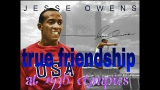 True friendship Jesse Owens and luz long 1936 Berlin Olympics