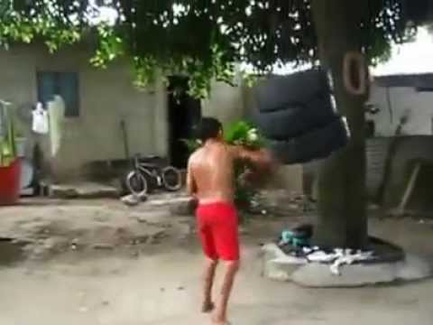 Wow this kid has some serious talent in Boxing