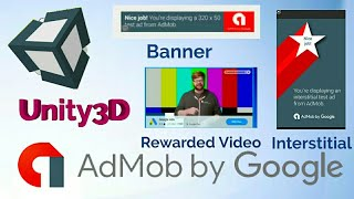 Admob Banner , Interstitial  and Rewarded Video Ad in Unity
