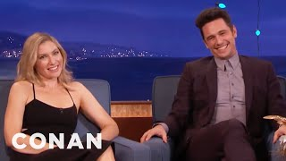 Ari Graynor Wears Tommy Wiseau Underwear  - CONAN on TBS