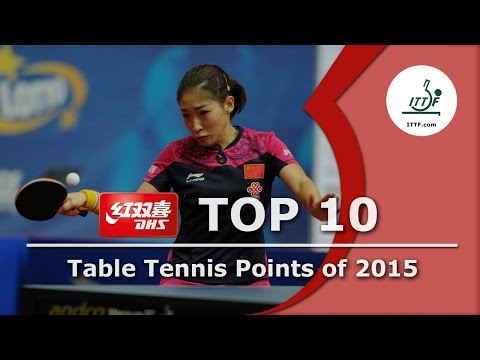 ITTF Top 10 Table Tennis Points of 2015 presented by DHS