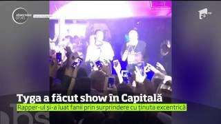 Celebrul rapper american Tyga a făcut show într-un club de fiţe din Capitală