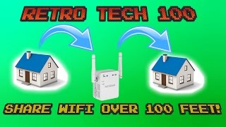 Use Wifi Repeater To Share Internet 100 Feet Away!